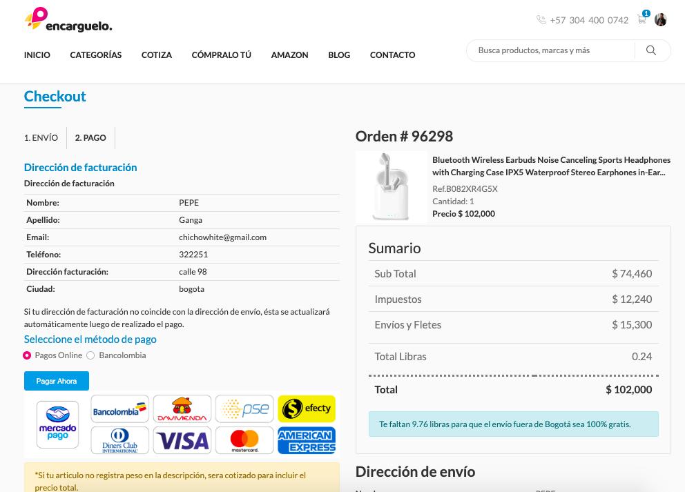 pagina de pago de tu comprar por internet