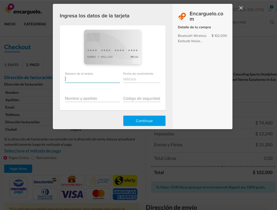 tarjeta de credito pagar por mercadopago