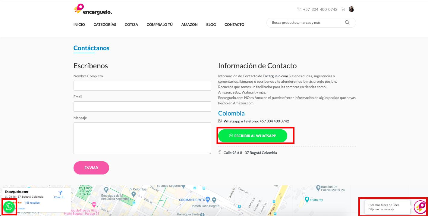 pagina de contacto compras seguras por internet
