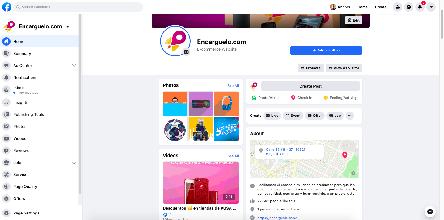 encarguelo.com pagina de facebook donde se hacen compras por internet seguras