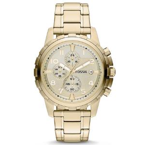 "Fossil 45mm ""Goldtone Stainless Steel Dean"" Reloj Cronógrafo"