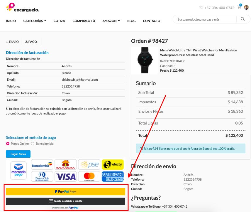 pagar con paypal tienda online