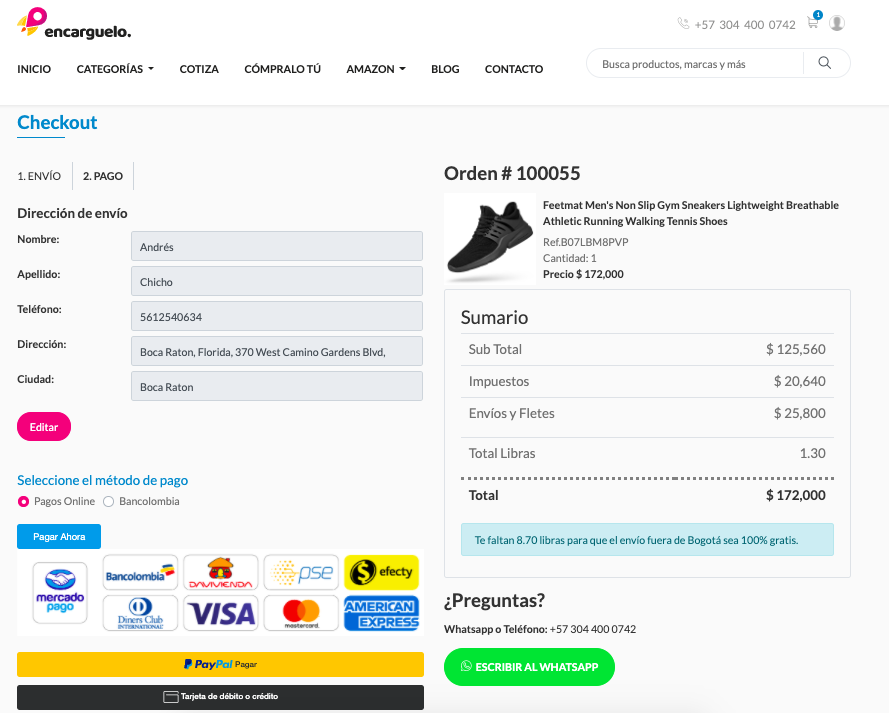 pagina de pago mercadopago y paypal compra en linea