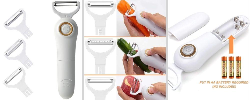 pelador de vegetales eléctrico producto para el hogar