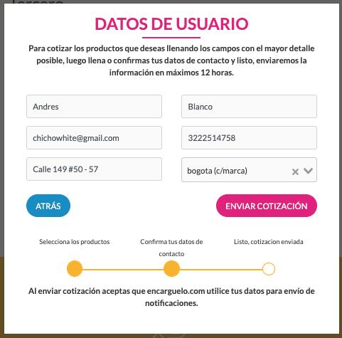 formulario de cotizacion