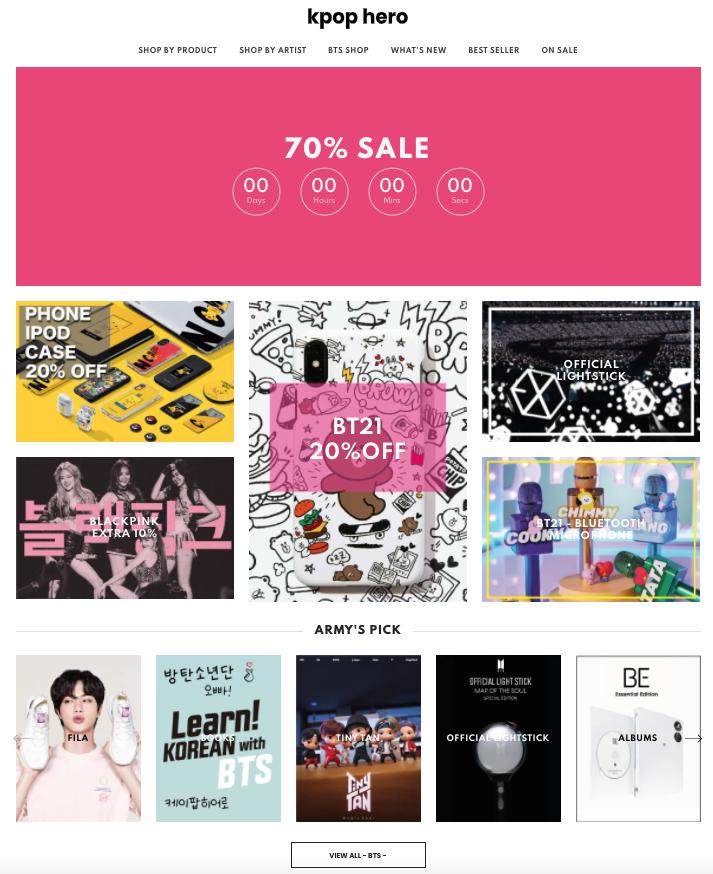 kpop hero store