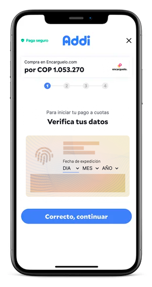 verificación datos de addi comprar a cuotas